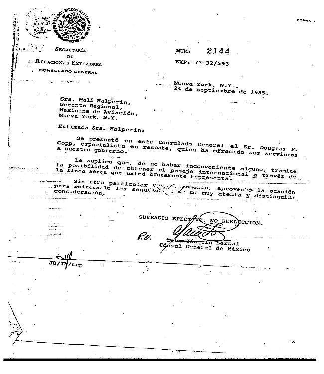 Copy of Consule General Mexico - New York.jpg (60211 bytes)